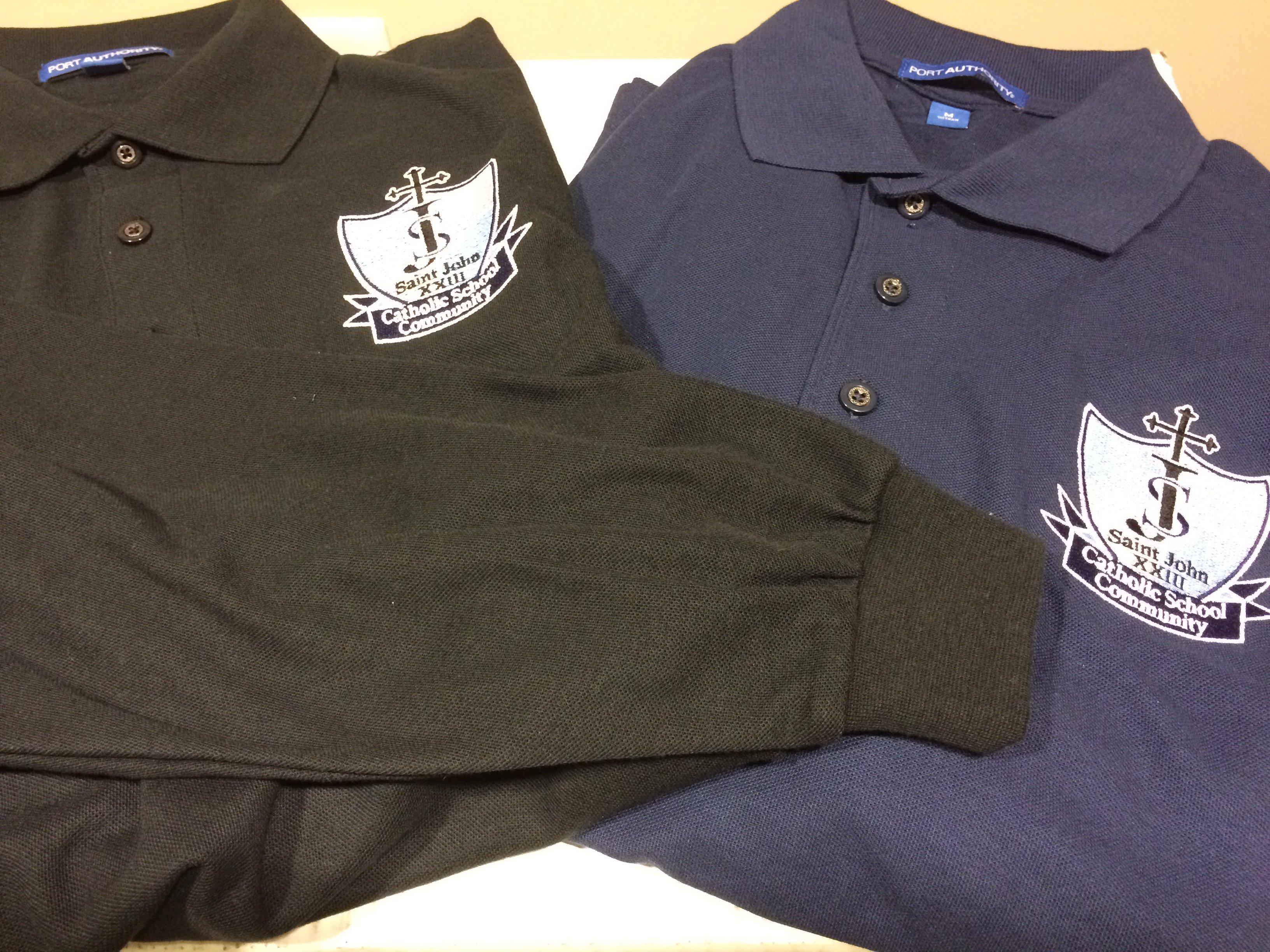 Saint John Xxiii Catholic School Uniform Polo Long Sleeve